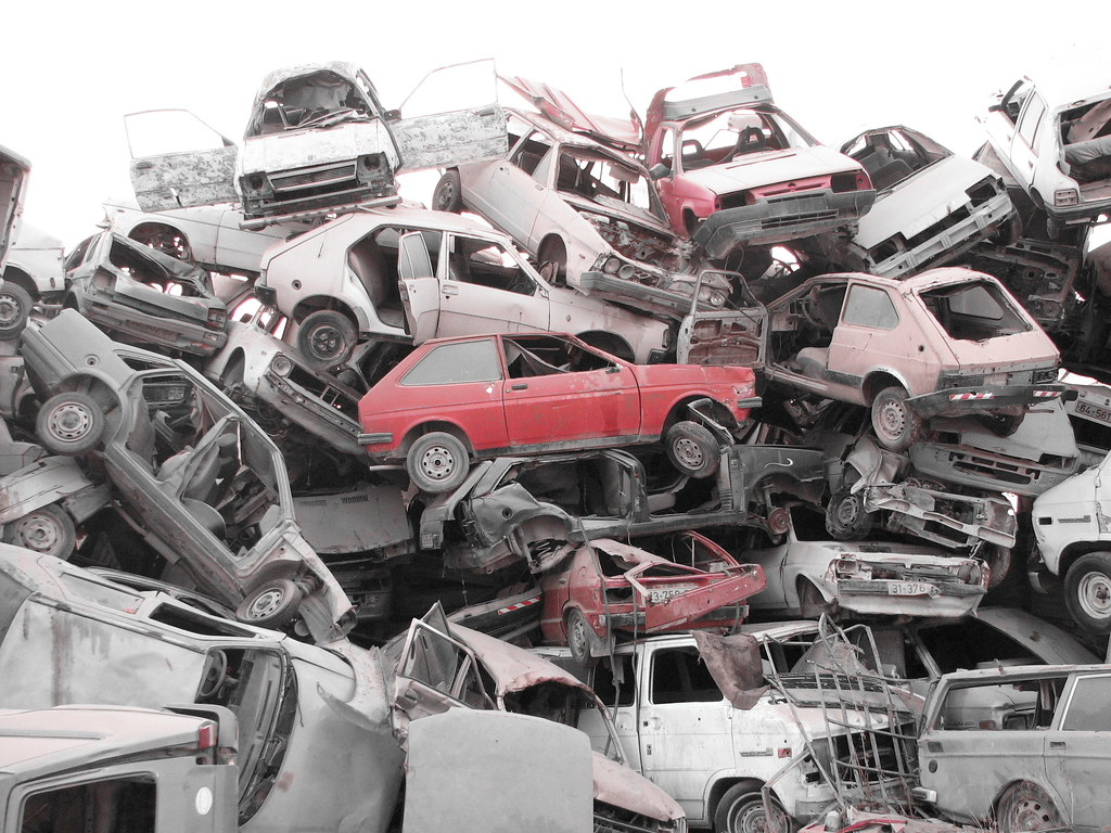 a pile of wrecked and dead cars can you identify any cars flickr. Black Bedroom Furniture Sets. Home Design Ideas