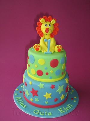 Birthday Cake Photos For 1st Birthday : First Birthday Cake with Lion Boy?s First Birthday Cake ...