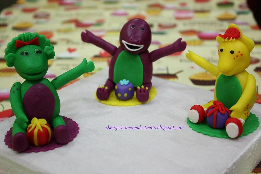 Barney Figurines For Cake