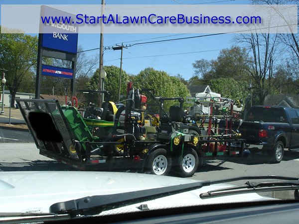 Lawn care equipment trailer a well stocked lawn care for Garden maintenance trailer