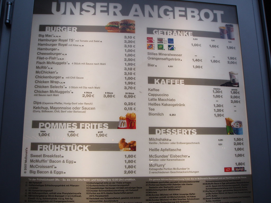 German Mcdonald S Menu On Window Unser Angebot Our Watermelon Wallpaper Rainbow Find Free HD for Desktop [freshlhys.tk]