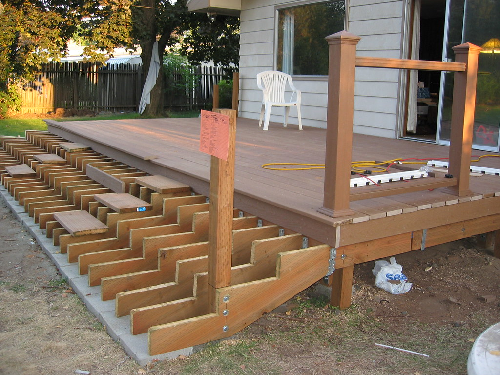 Deck stairs we passed inspection buffbikerbabe1 flickr for How to build box steps for a deck