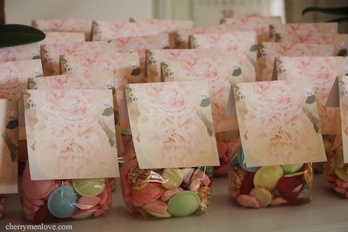 baby shower favor bags cherry menlove we made these swee