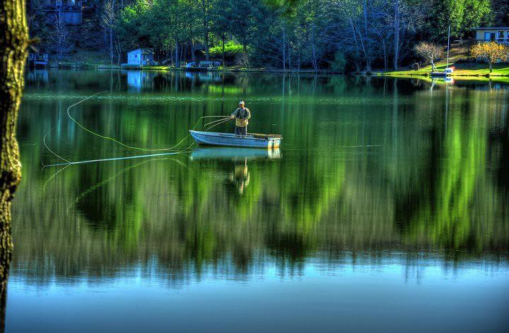 Fly fishing tricks lake roy new milford photo for Milford lake fishing report