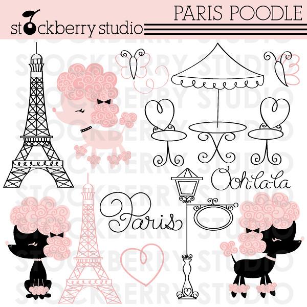 paris poodle paris poodle clipart set flickr. Black Bedroom Furniture Sets. Home Design Ideas