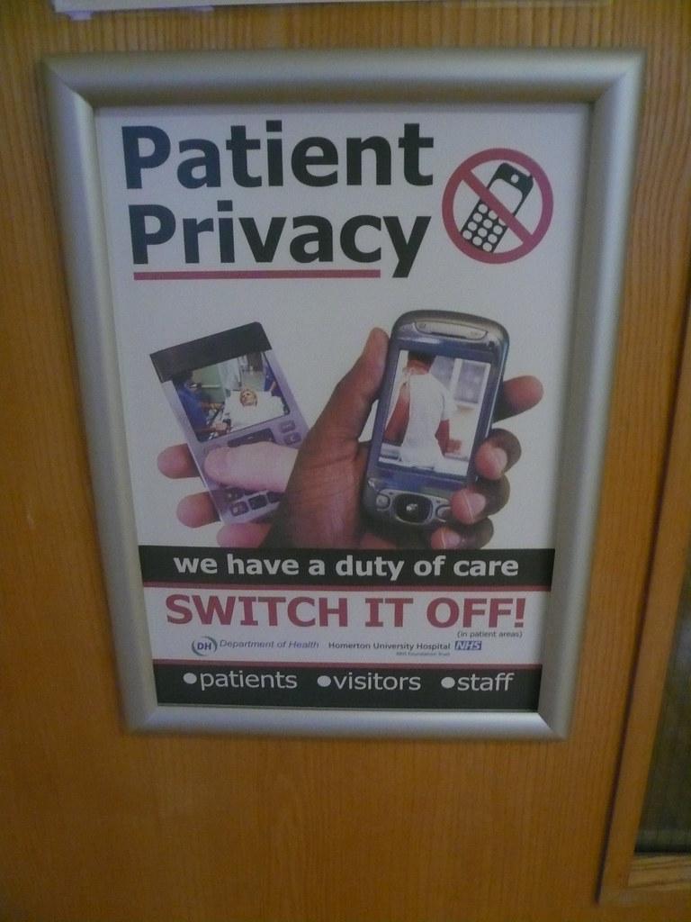No mobile phones sign at Homerton Hospital, London, UK.JPG ...