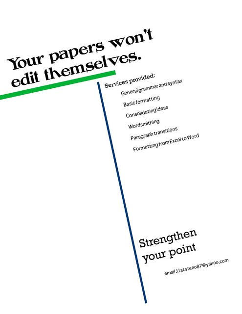 flyer for editing services i made a small flyer for jj s p flickr
