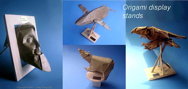 ORIGAMI DISPLAY STANDS