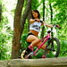 """Completed """"cropped"""" photo. Nicole Lee for Square one Bmx-not cropped for add."""