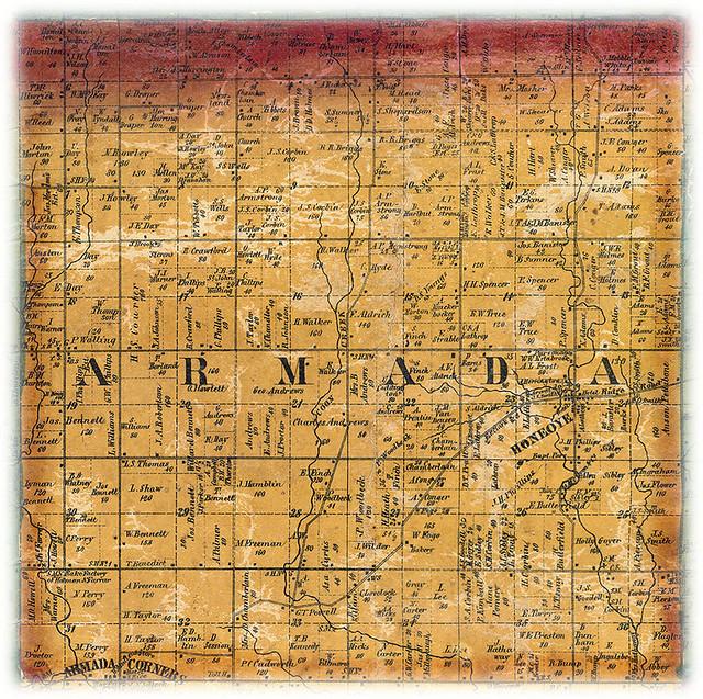 Armada Township 1859 This Is An 1849 Plat Map Of Armada