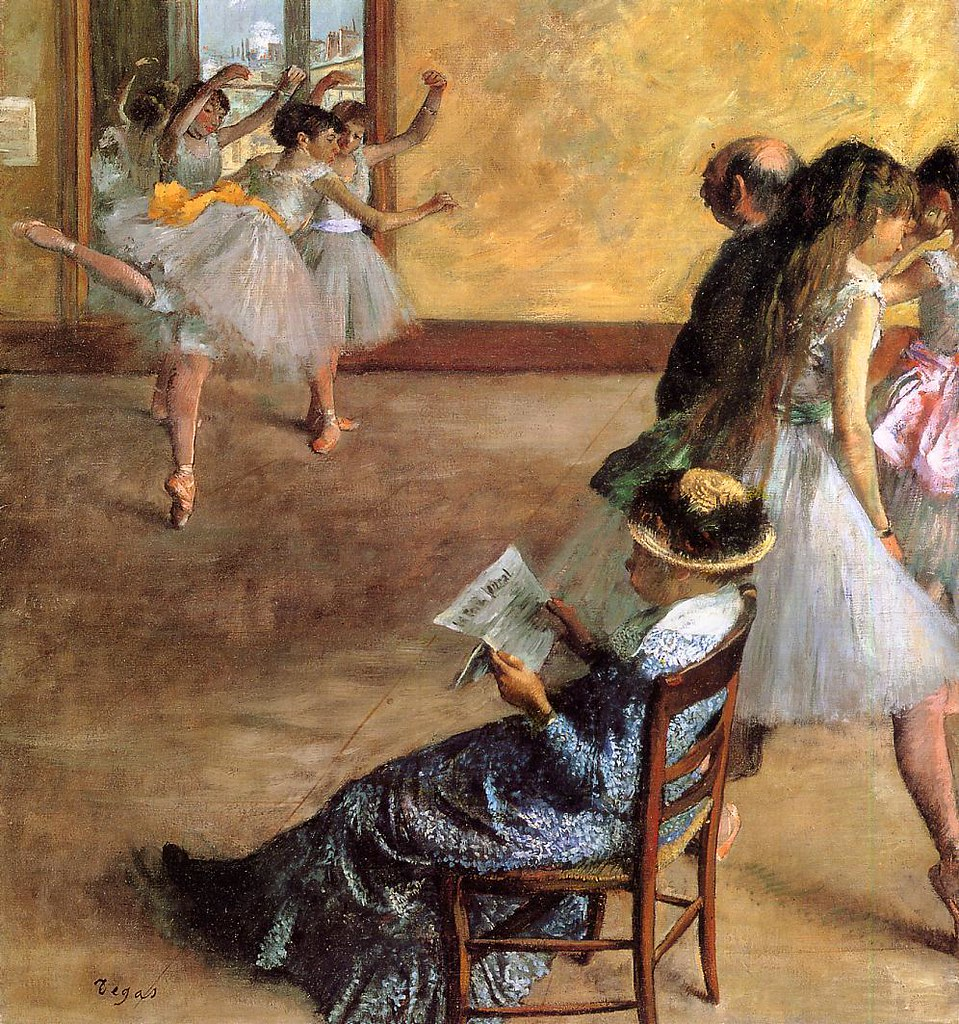 Th Ballet Class by Edgar Degas, 1881