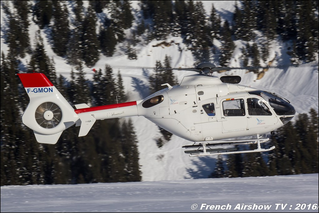 Eurocopter EC-135-T1 - F-GMON -SAF HELICOPTERES, Salon Hélicoptère à Courchevel 2016, Meeting Aerien 2016