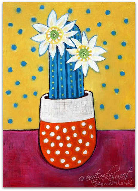 Potted Cactus - Art by Regina Lord creativekismet.com