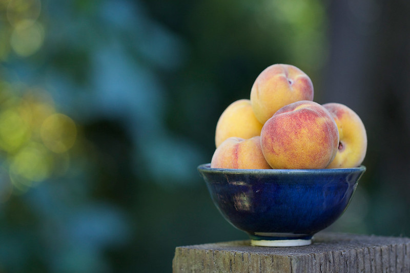 Bowl of Frost Peaches