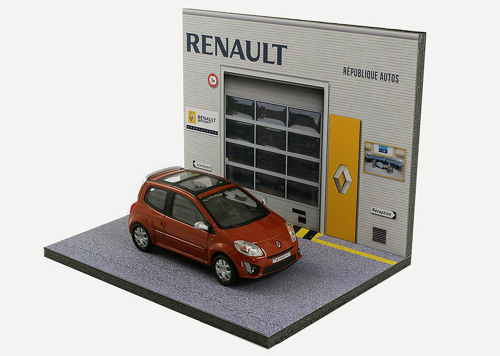 Diorama pr sentoir garage delannoy agent renault 1 43 me mr43a073 - Garage renault republique ...
