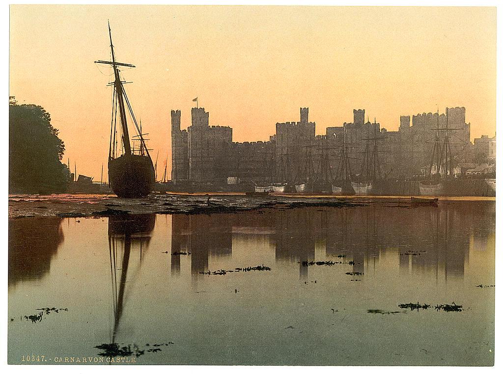 Carnarvon Castle at sunset
