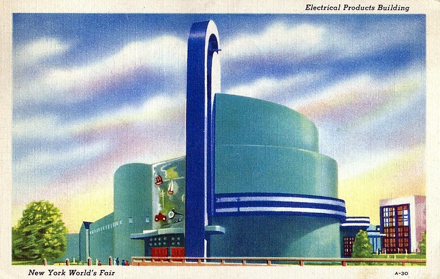 Vintage 1939 New York World's Fair Postcard - Electrical Products Building