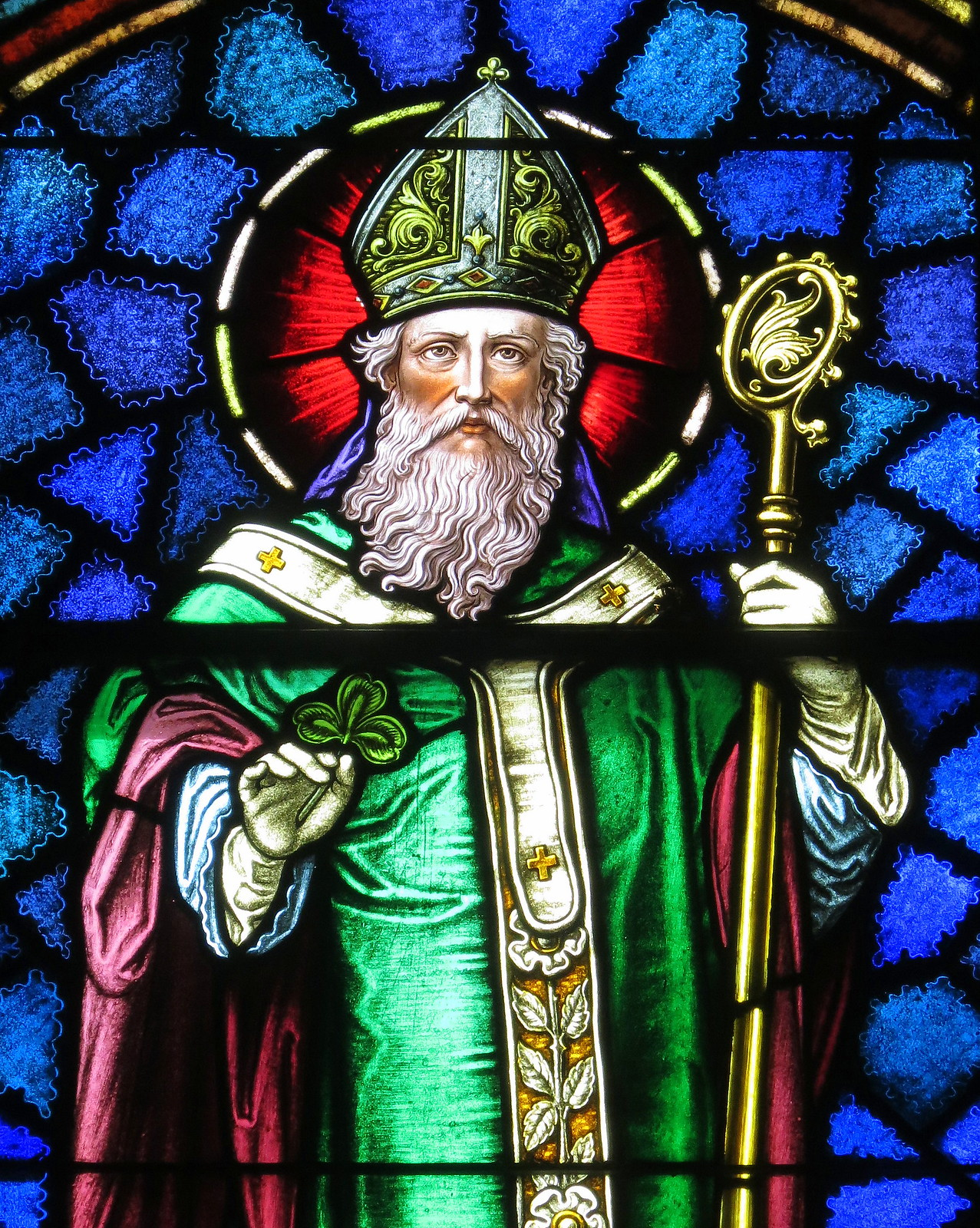 Saint Patrick Catholic Church, stained glass, Junction City, Ohio. Credit Nheyob