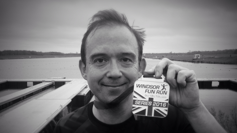 Glediator with race medal.