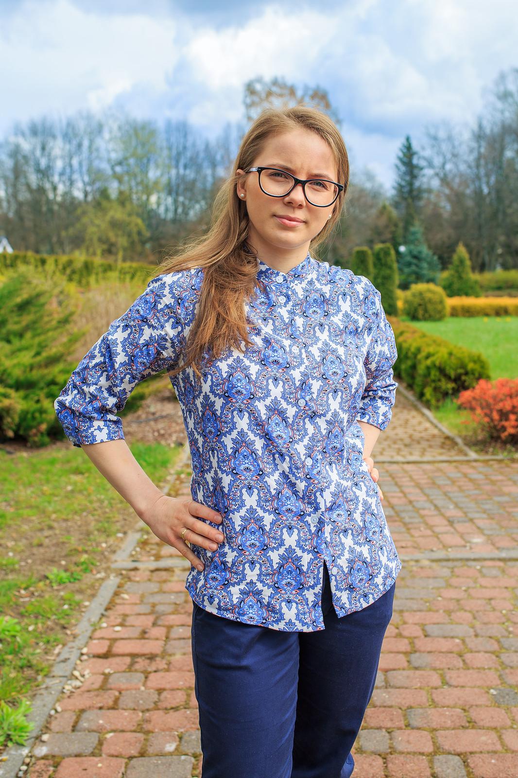 Koszula 118, niebieski wzór