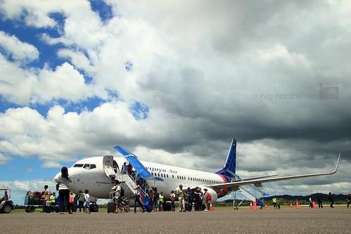 Sriwijaya Air di Bandara HAS Hanandjoeddin, Tanjung Pandan, Belitung