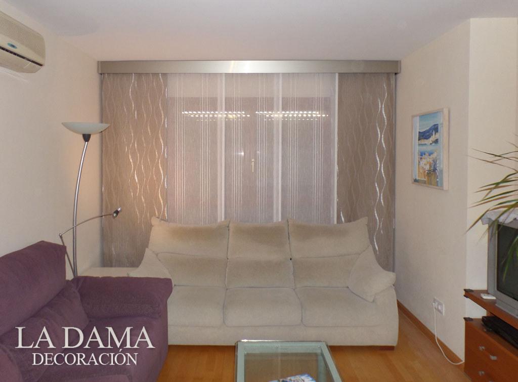 Panel japon s con galer a decorativa cortinas estores - Ver cortinas para salon ...