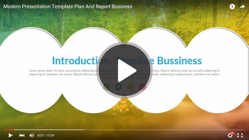 Modern keynote business presentation template for report and plan