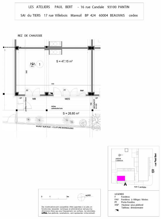 Les Ateliers Pault Bert - Plan de vente - Lot 1
