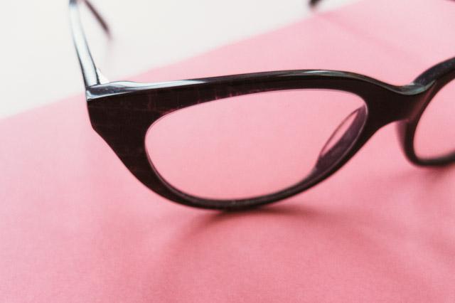 purple snake print glasses