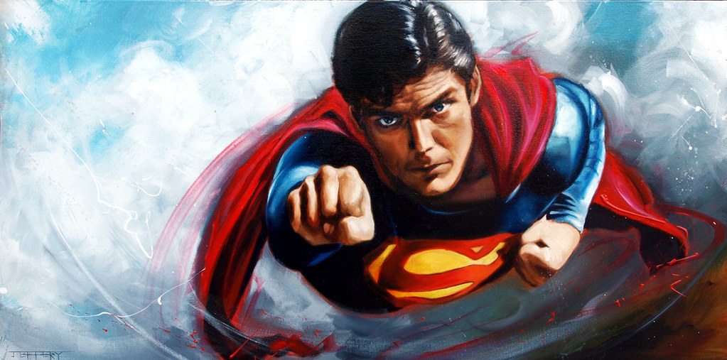 Christopher Reeve Superman by Ben Jeffery