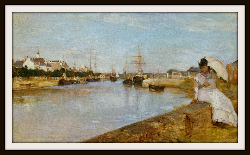 The Harbor at Lorient by Berthe Morisot, 1869.