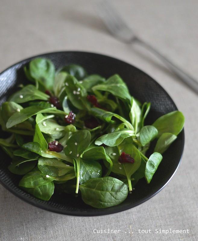 Salade Mache Epinards Cranberries Cuisiner Tout Simplement