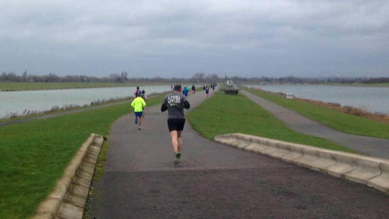 The 2km run alongside the rowing lake.