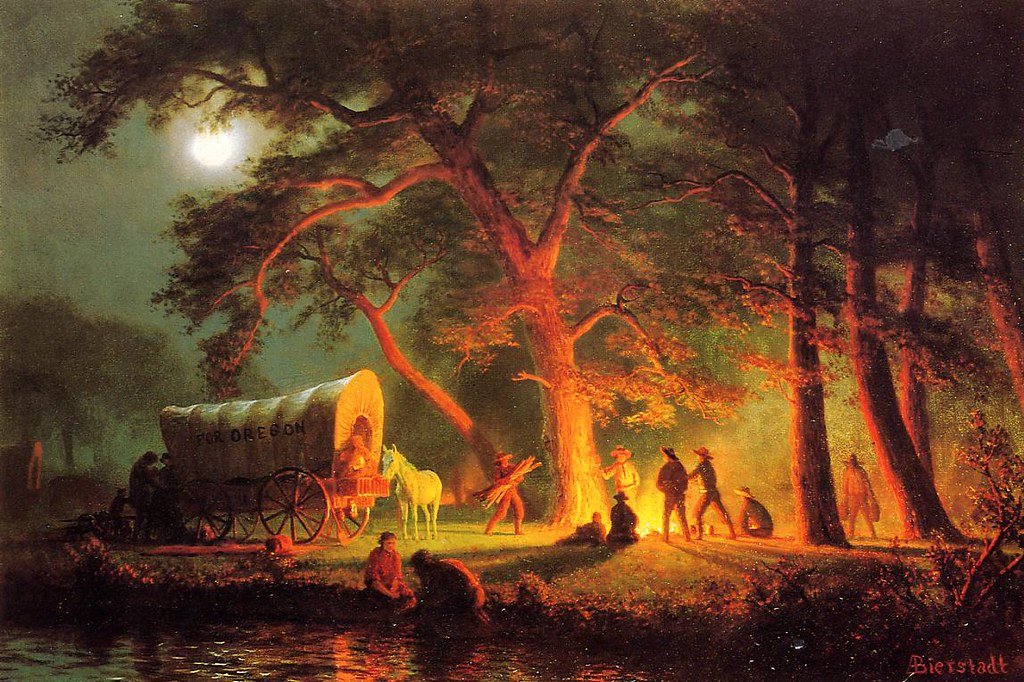 Oregon Trail by Albert Bierstadt (1830 - 1902)