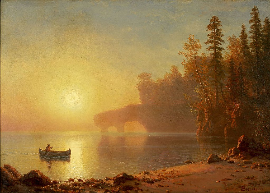 Indian Canoe by Albert Bierstadt, 1886