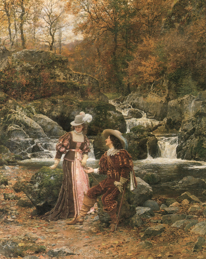 The Lovers by Marie-Francois Firmin-Girard, 1878.