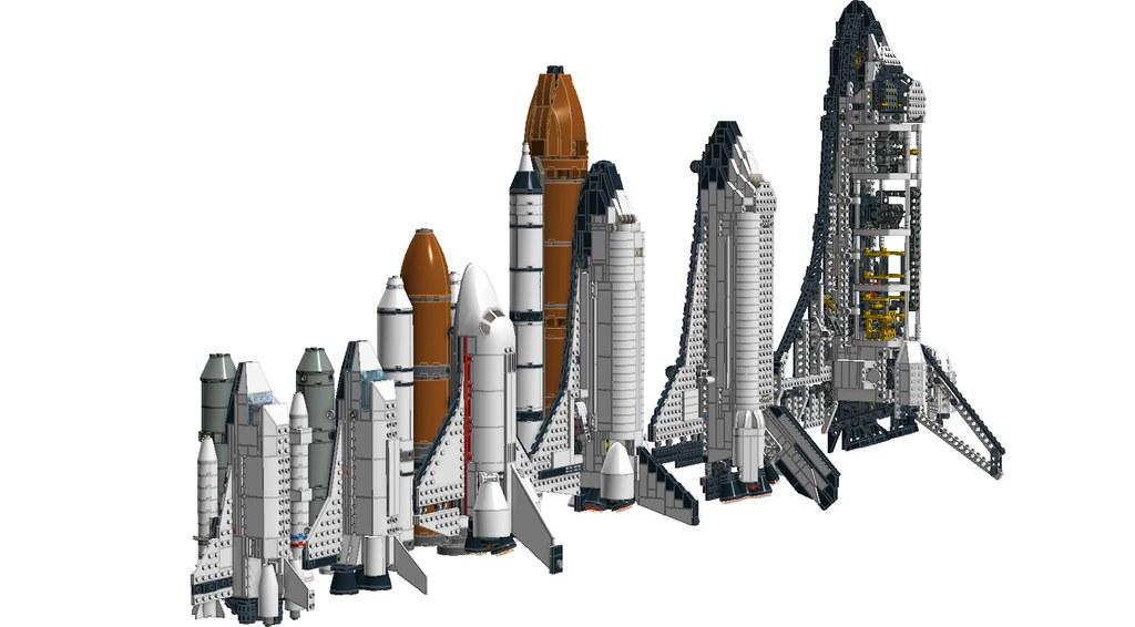 A LEGO Space Shuttle Size Comparison! | As follows: 1682 ...
