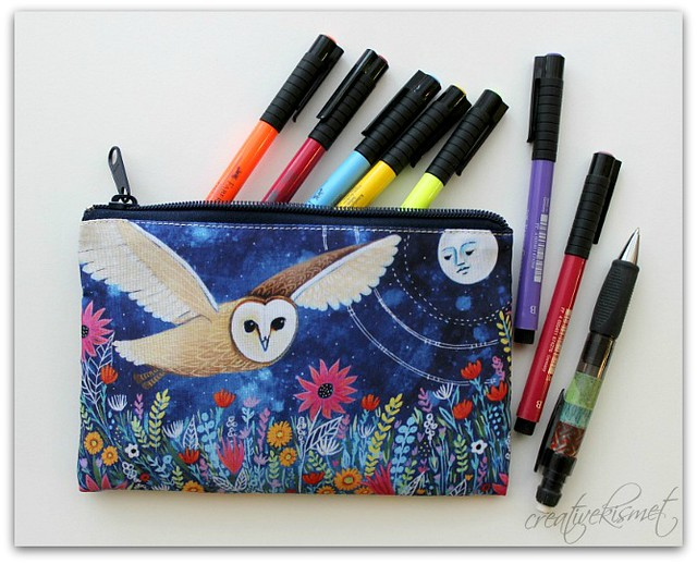 coin purse zipper pouch - art by Regina Lord