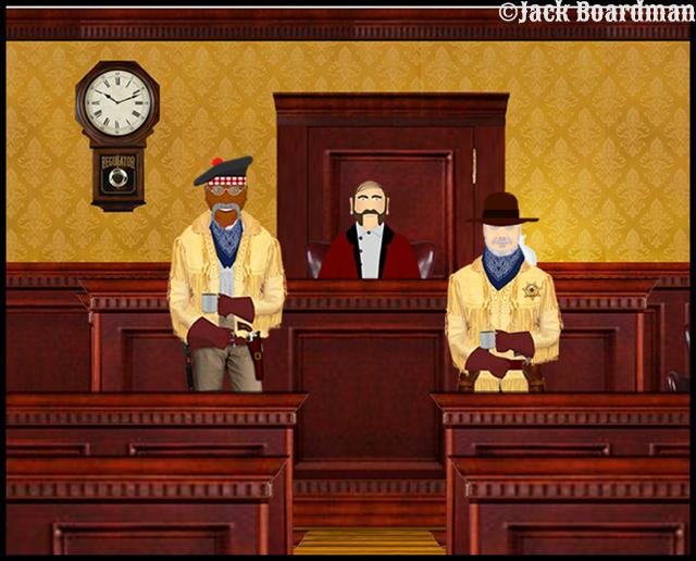 Judge McLeod administered the oath ©Jack Boardman