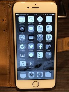 白黒iPhone