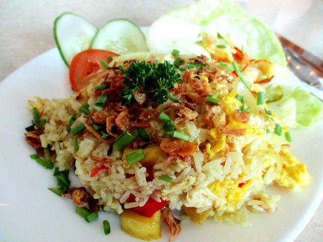 Valentine Cafe, pineapple fried rice