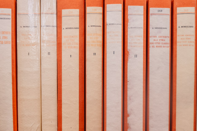 orange book spines