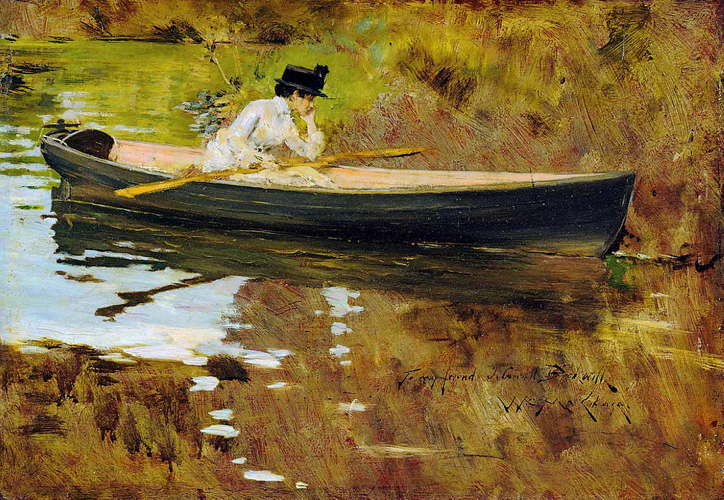 Mrs. Chase in Prospect Park by William Merritt Chase, 1886