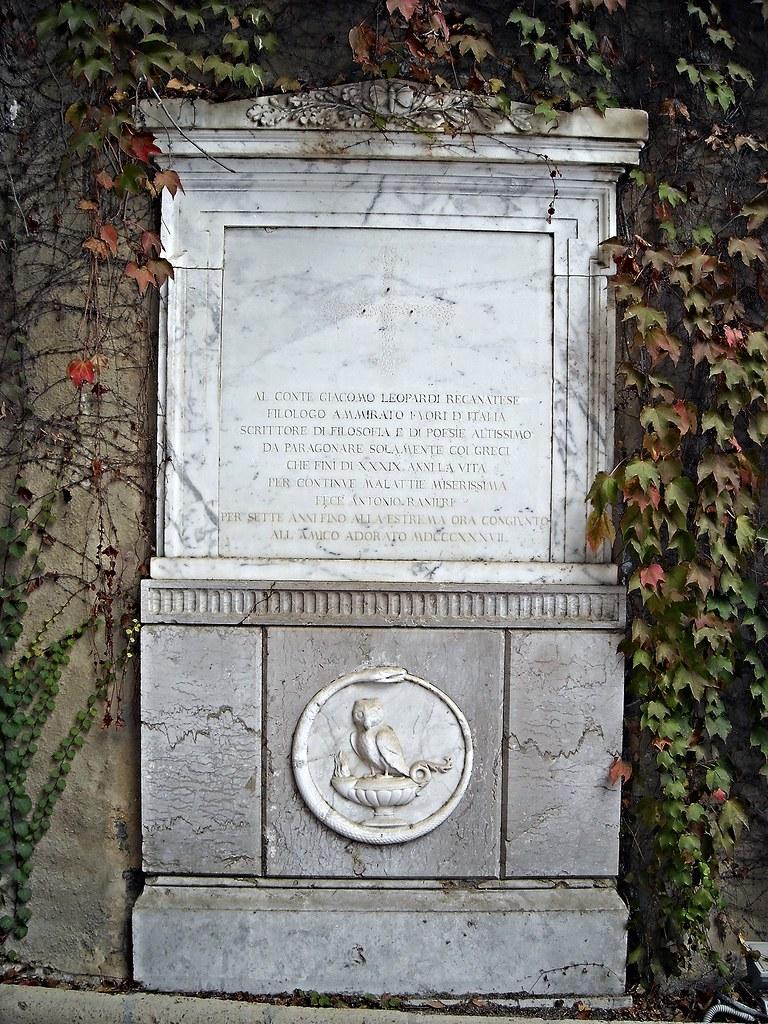 Former sepulchre of Giacomo Leopardi (Recanati 1798-Naples 1837) - Literary Park of Vergil and Giacomo Leopardi at Piedigrotta in Naples