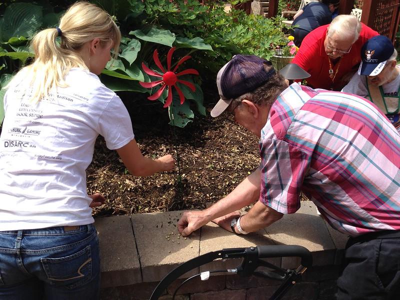 Image volunteer gardening
