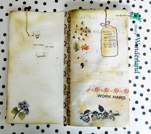 prime pagine di journaling all'interno del quaderno del traveler's notebook della Webster's pages