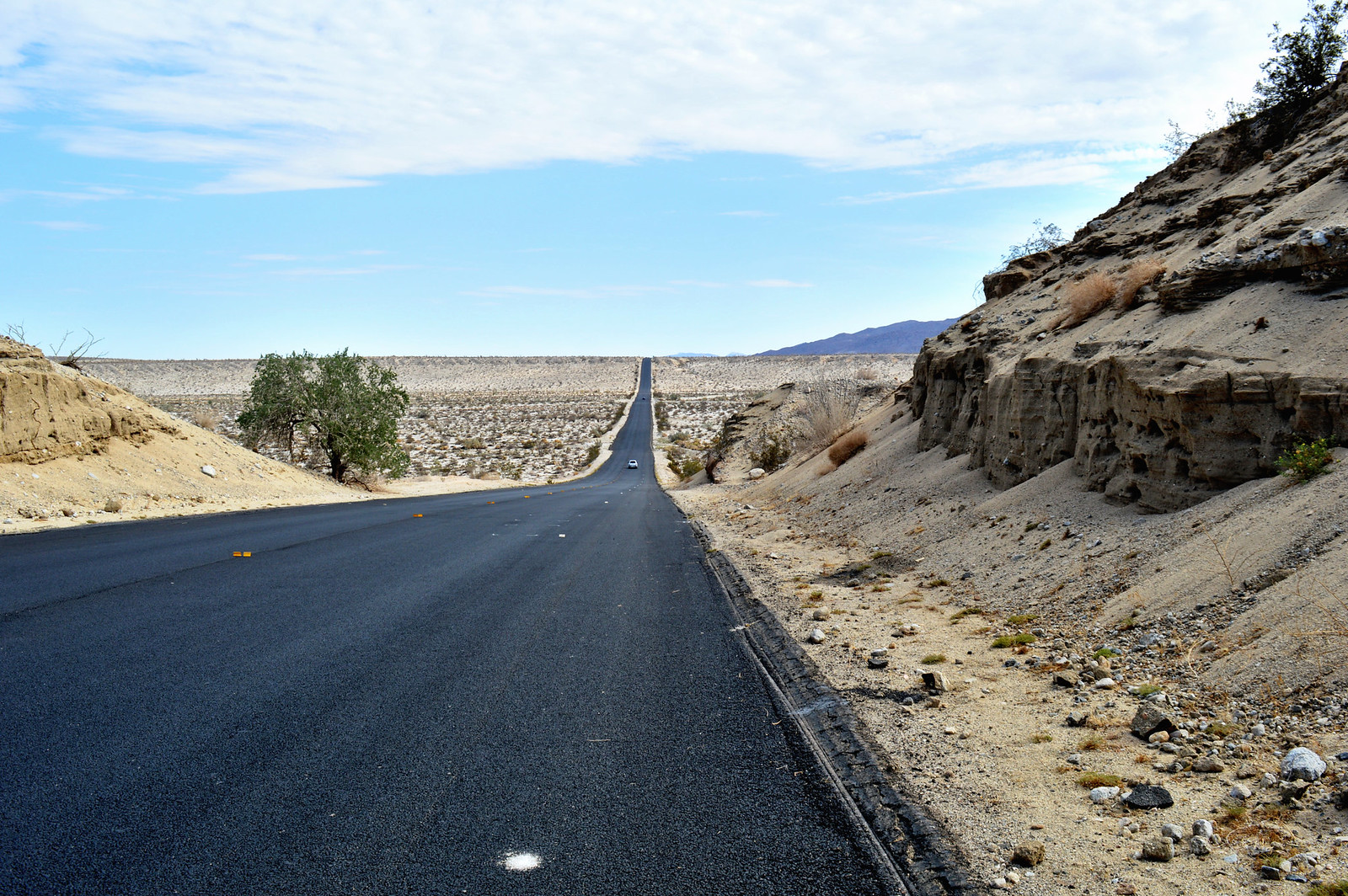 Road in the Anza-Borrego Desert State Park, California.
