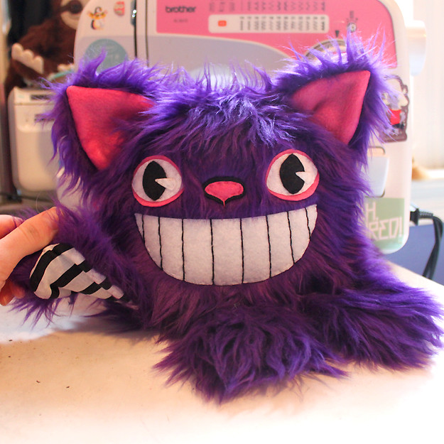 Cheshire Cat plush by LoveAndASandwich