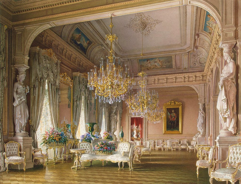 The Russian mansion of von Stieglitz: White Drawing-Room. 1870