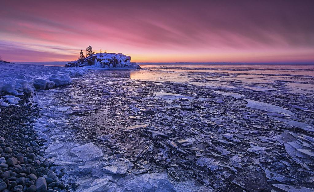 Sunrise Pink Minnesota Winter Lake Ice I Spent Some
